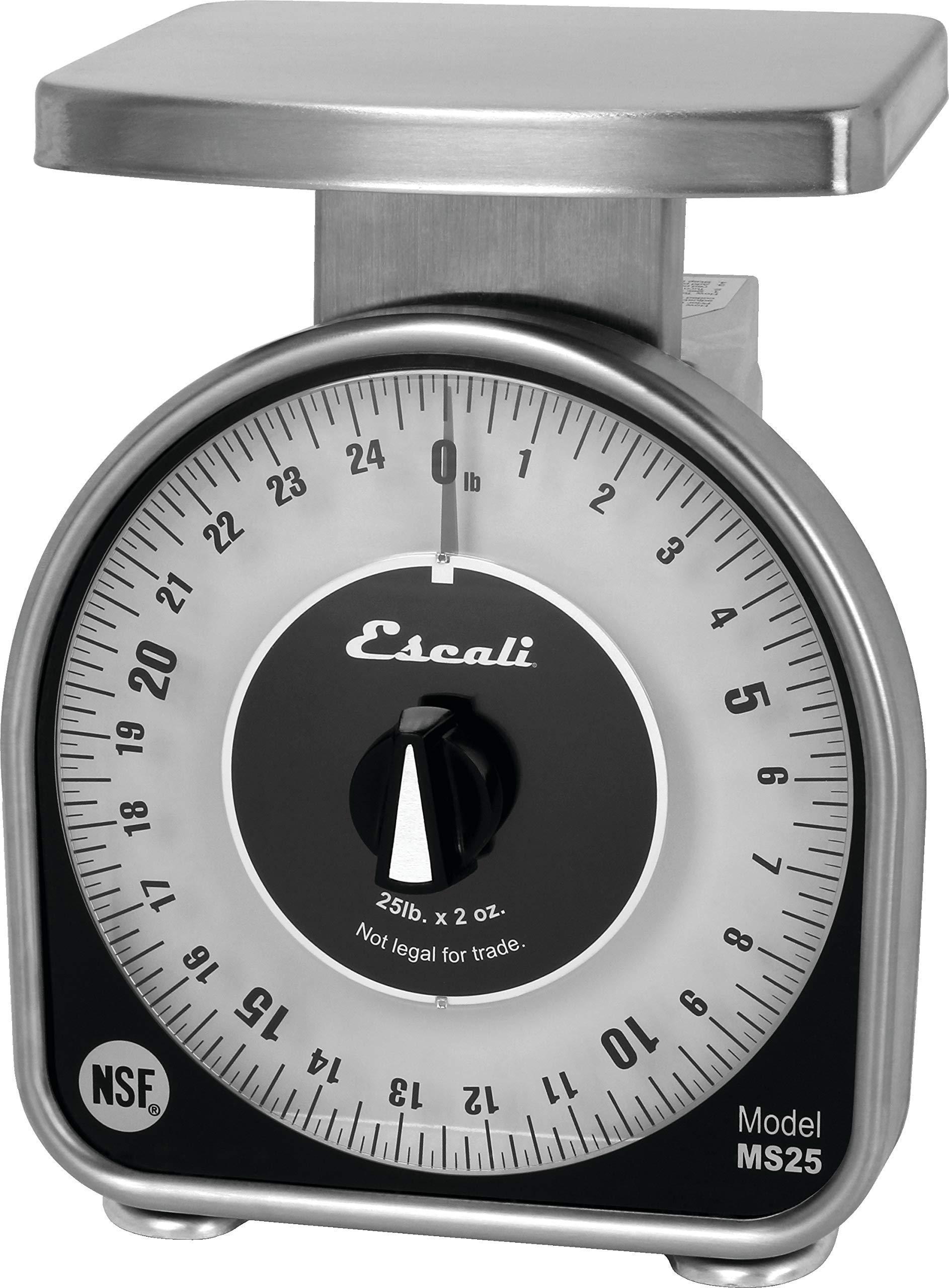 San Jamar SCMDL25 Mechnical Dial Food/Kitchen Scale, 25 lb Capacity by San Jamar