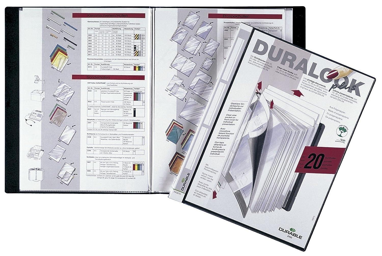 Duralook Style portalistino per documenti f.to A4 nero 20 buste rimovibili con 4 divisori colorati DURABLE 243501