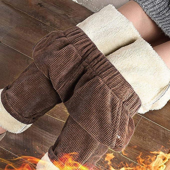 Frauen Winter Warme Dicke Fleece Gefütterte Thermohose Hose Jogginghose Hosen