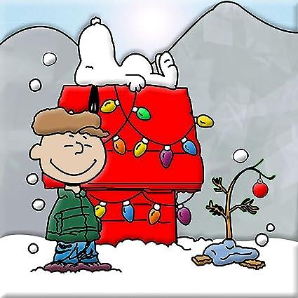 Snoopy Christmas Images.Amazon Com Charlie Brown Snoopy Christmas Iron On