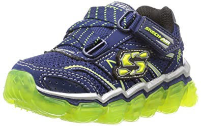 skechers shoes for boys. skechers kids boys air sneaker, navy/lime, 3 m us little kid shoes for a