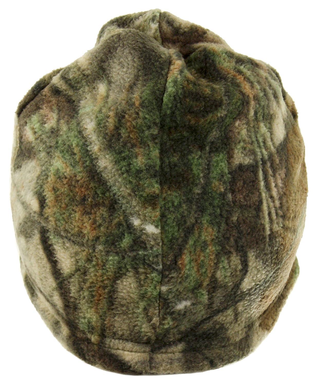Equipment De Sport USA Mossy Oak Country Camouflage Reversible Black Fleece Beanie