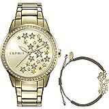 Esprit Analog Gold Dial Women's Watch with Bracelet- ES108502002
