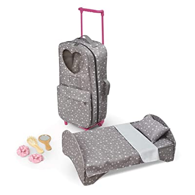 Travel and Tour Trolley Carrier with Bed for 18-inch Dolls (fits American Girl Dolls): Toys & Games