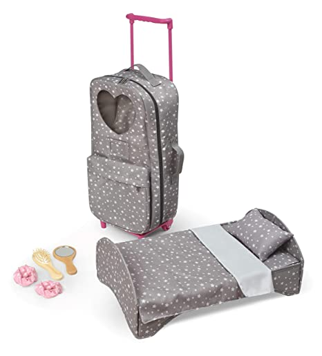 Travel And Tour Trolley Carrier With Bed For 18 Inch Dolls Fits American Girl Dolls