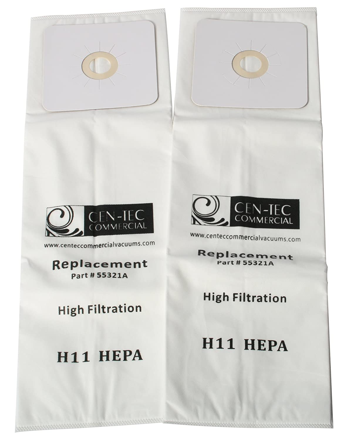 Cen-Tec Systems 55321A HEPA Central 2-Pack Vacuum Bags for Nutone, CV and Micro