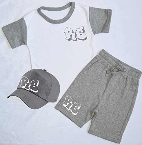 575ab74c556 Personalised Initial Children s Short Tracksuit and Cap Set Kids Tracksuit  Toddler Wear Personalised Toddler Personalised Kidswear Matching Toddler  Sets