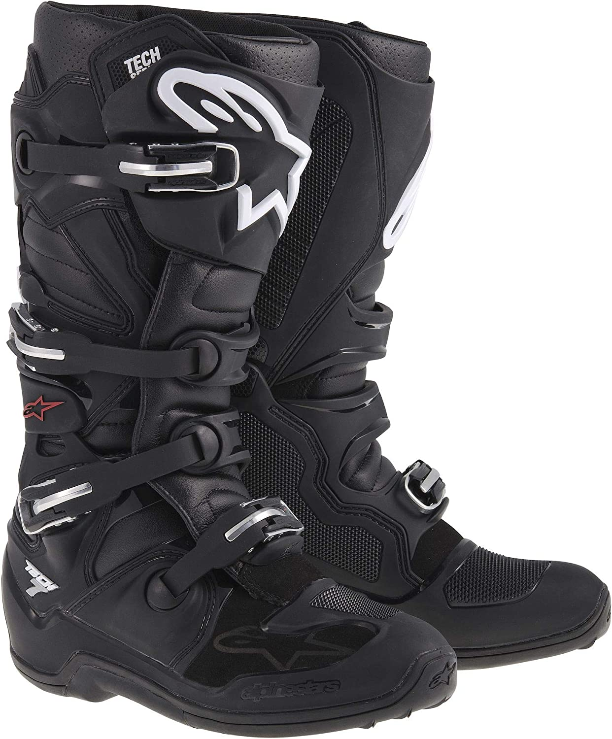 Alpinestars Tech 7 Men's Motocross Motorcycle Boots - Black/Size 11: Shoes