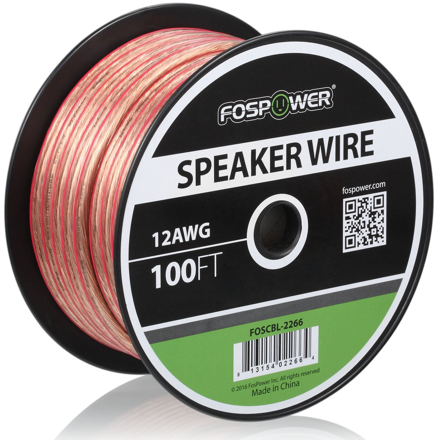Amazon.com: FosPower 12AWG Speaker Wire [12 Gauge | 100 FT] Premium ...