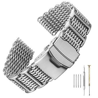 Amazon.com: Correa de reloj de pulsera de acero inoxidable ...