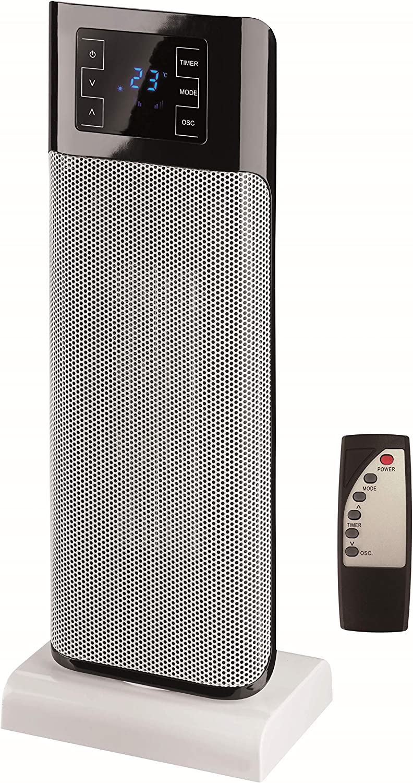 Triomph ETF1483 2000 W de cerámica ventilador de la torre, 220 V ...