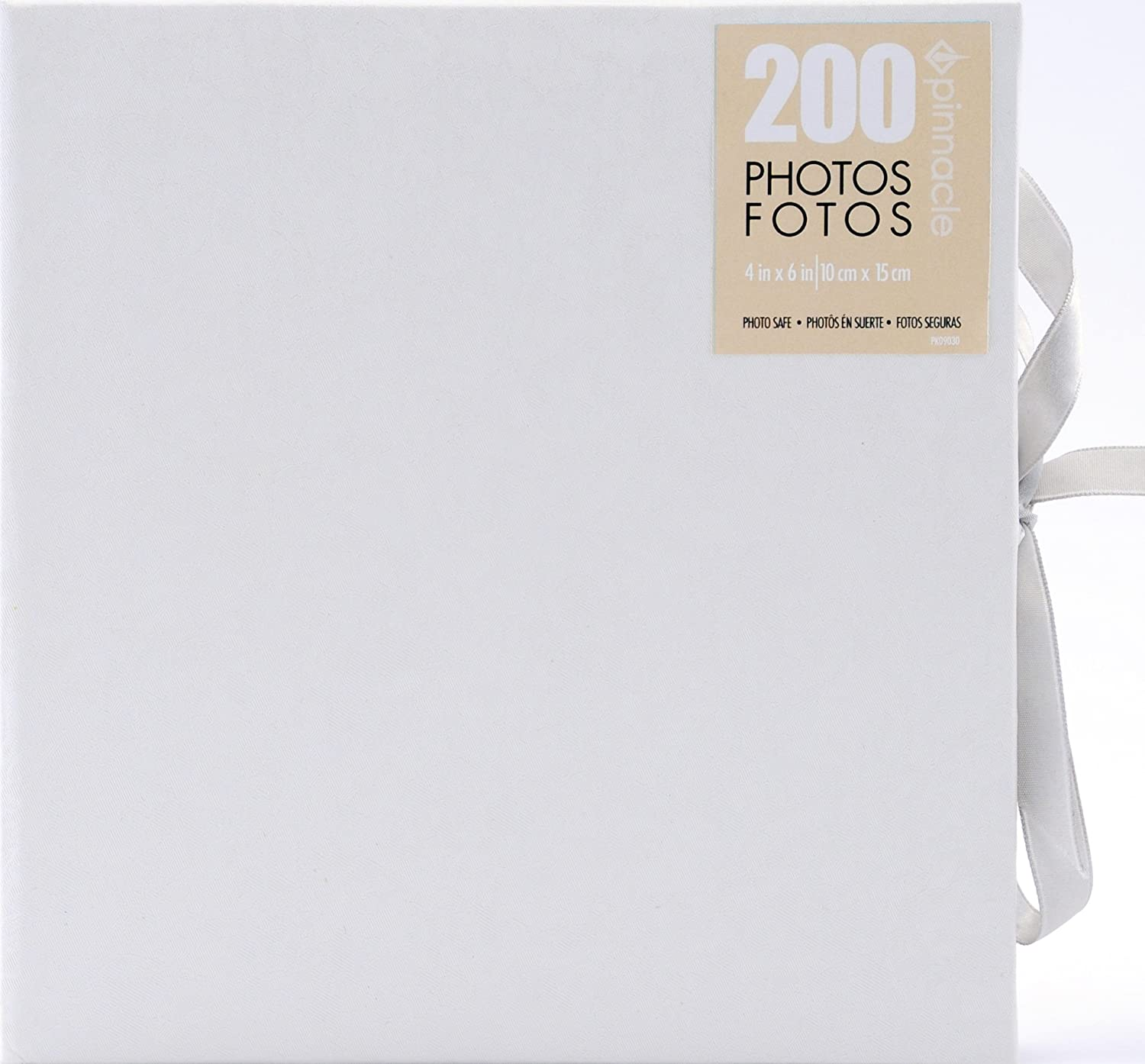 Pinnacle Frames and Accents Wedding Shimmer 160-Pocket Photo Album with Tie Closure NBG Home 06FF858