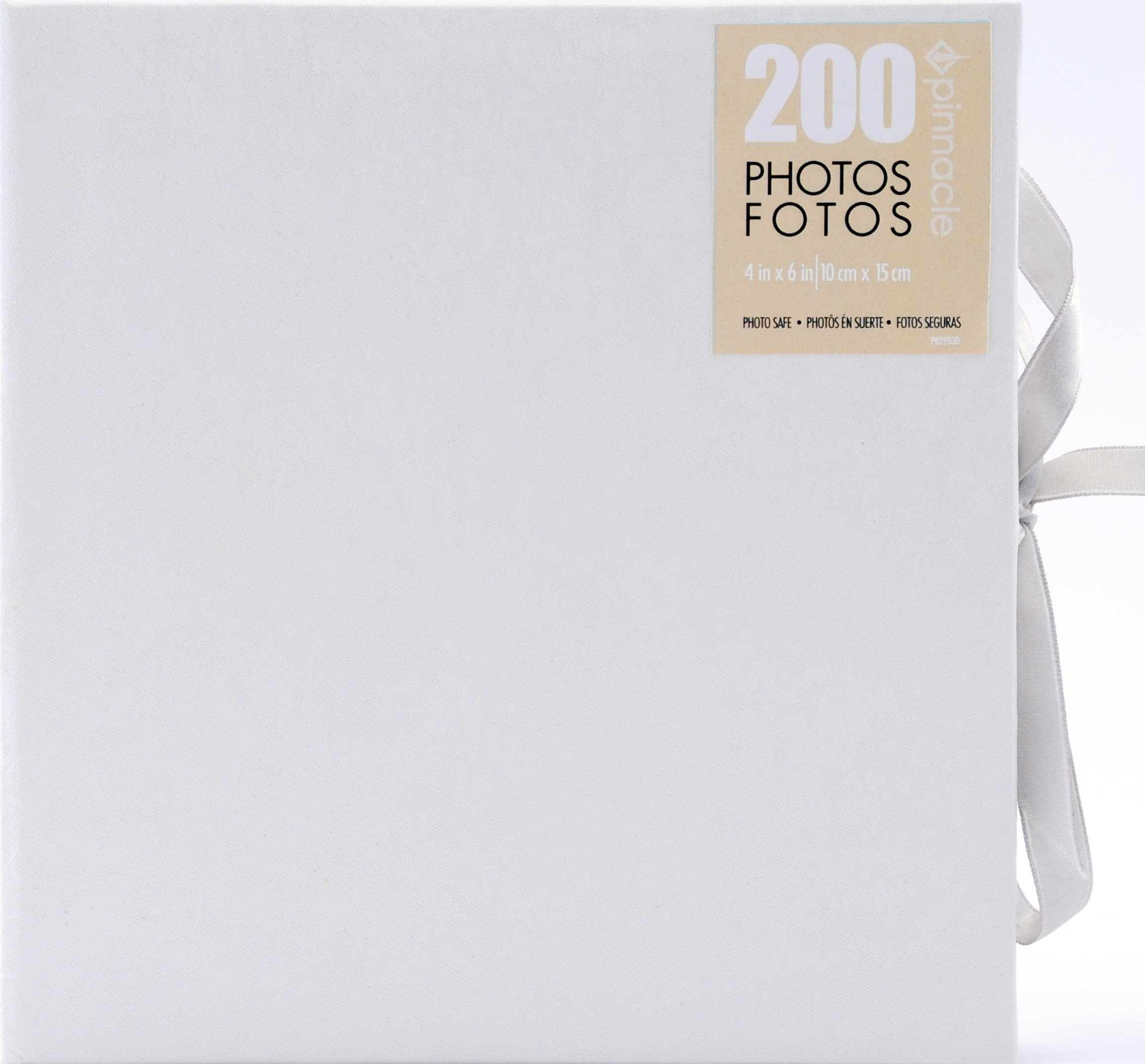 Pinnacle Frames and Accents Wedding Shimmer 160 Pocket Photo Album Tie Closure