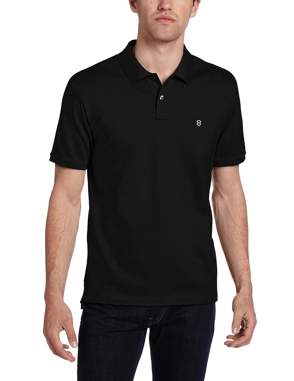 Victorinox VX ストレッチ ピケ ポロシャツ メンズ B00BHA7RHQ S|ブラック ブラック S