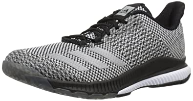 super cute 86293 5e866 adidas Womens Crazyflight Bounce 2 Volleyball Shoe, BlackSilver  MetallicWhite, 5