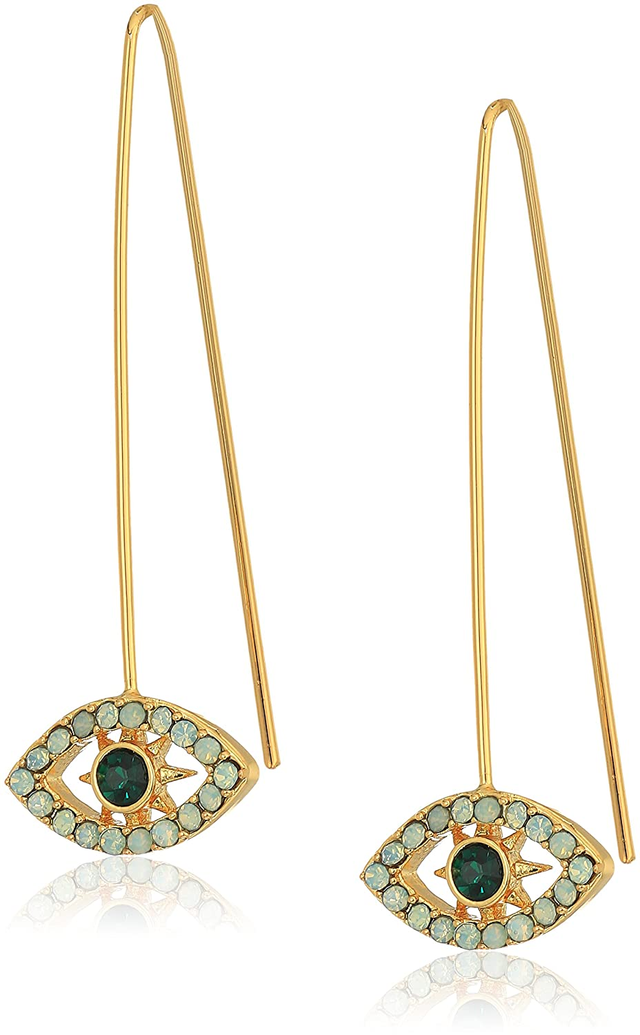 rebecca minkoff celestial evil eye threader drop earrings E22667R1