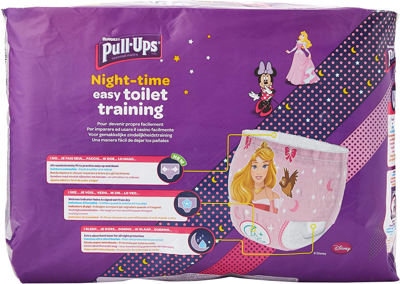 Huggies Pull-Ups Couche de Nuit Fille 2-4 Ans 18-23 kg
