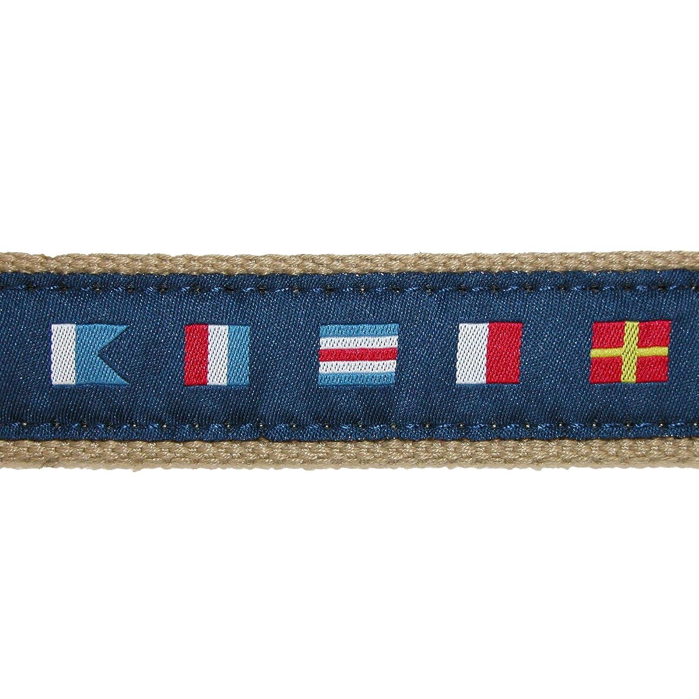 Cintur/ón de tela tejida para hombre con banderas de se/ñal n/áutica CTM