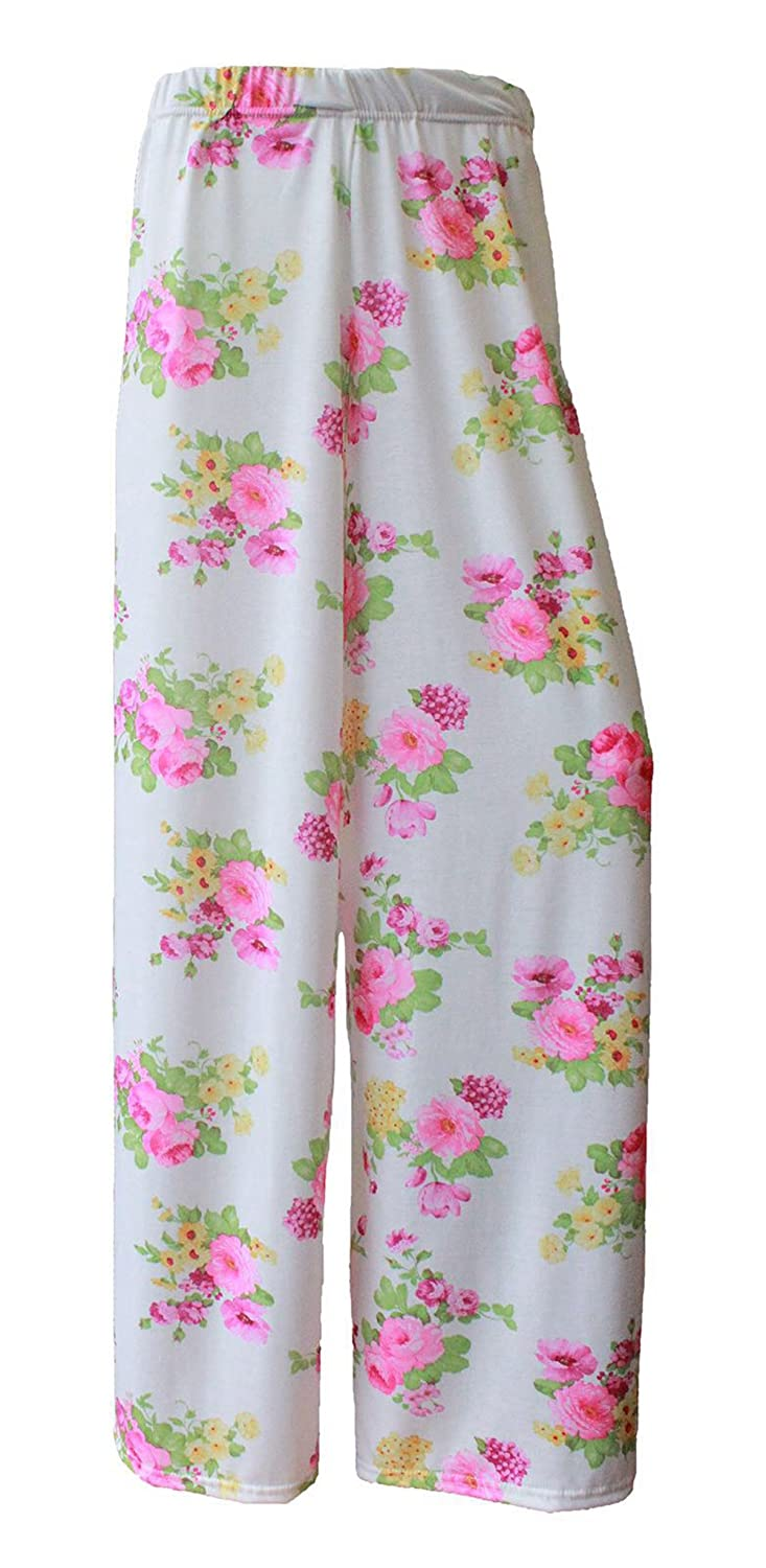 GirlzWalk @ Women Floral Print Wide Leg Palazzo Trouser Plus Size