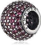 Pandora Damen-Charm 925 Sterling Silber Zirkonia rosa 791051CZS