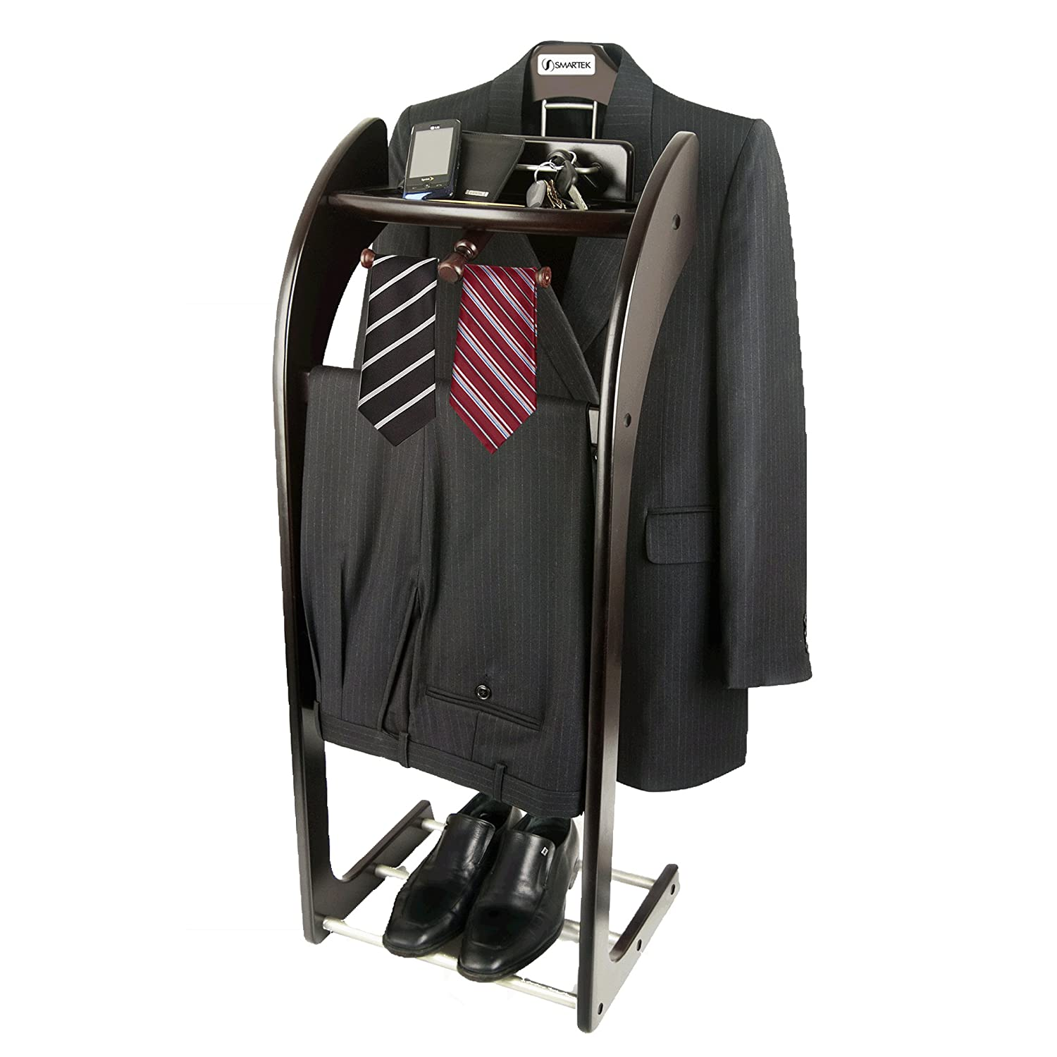 Mens Suit Valet Amazoncom Beautiful Solid Hardwood Executive Clothes Valet Stand