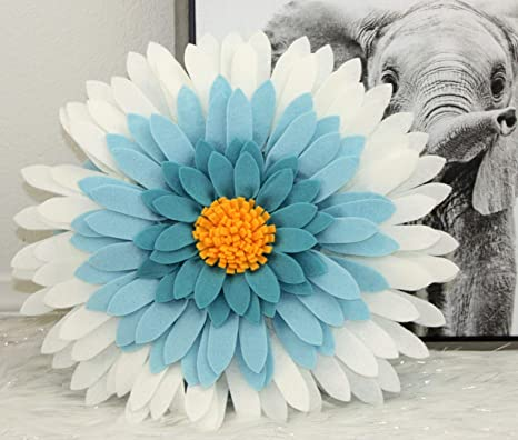 Amazon.com: Almohadas decorativas con diseño de margaritas ...