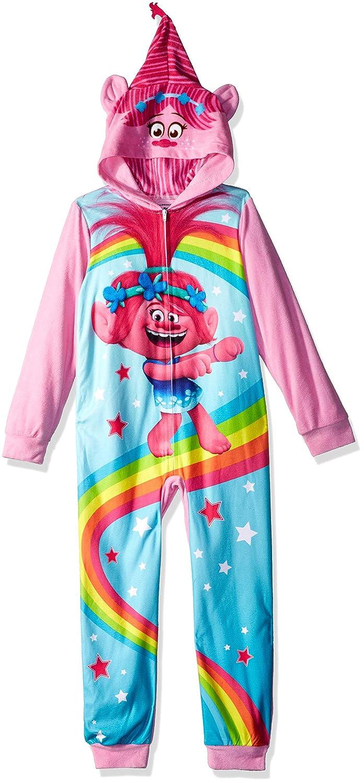 10 Positively Poppy Dreamworks Girls Big Trolls Uniform Hooded Blanket Sleeper