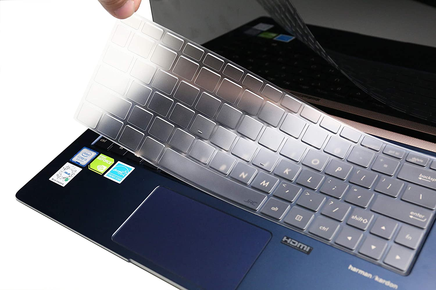 Ultra Thin Clear Keyboard Cover Skin for 13.3 ASUS ZenBook 13 UX331 Ultra-Slim Laptop Leze TPU
