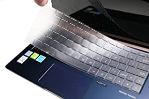 """LEZE - Keyboard Cover Compatible with 13.3"""" ASUS ZenBook 13 UX333FA UX334FLC Ultra-Slim Durable Laptop - TPU"""