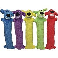 "MULTIPET Loofa Dog 12"" Plush Dog Toy, Colors May Vary"