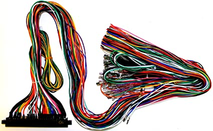 Amazon.com: Jamma Plus Board Full Cabinet Wiring Harness ... on electric harness for loom, warping a 4 harness loom, wiring loom sleeve,