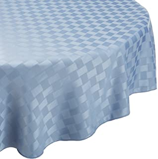 Bardwil Reflections Spill Proof Oval Tablecloth, 60 X 84 Inch, Stone Blue