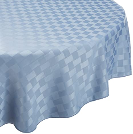 Amazon.com: Bardwil Reflections Spill Proof Oval Tablecloth, 60 X 84 Inch,  Pearl: Home U0026 Kitchen
