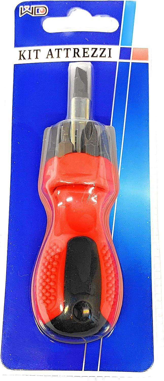Tournevis Nano porte-embouts magn/étique avec porte embouts rotatifs et poign/ée b-materiale Premium