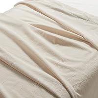 Muji Indian Cotton Blanket - D (Ecru)