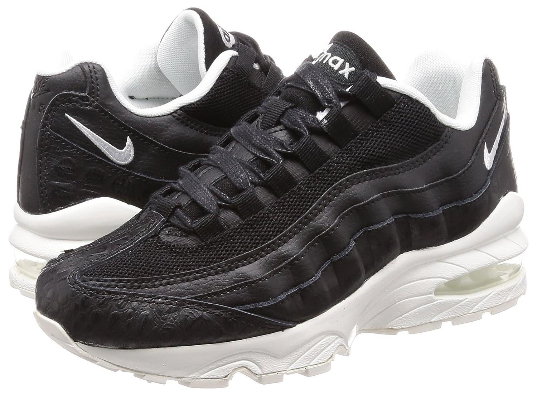 bfa694169c Amazon.com | Nike Air Max 95 SE Big Kids' Shoes Black/Summit White  922173-002 (4 M US) | Running