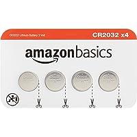 Amazon Basics CR2032 Litium - Juego de 4 Pilas de Monedas