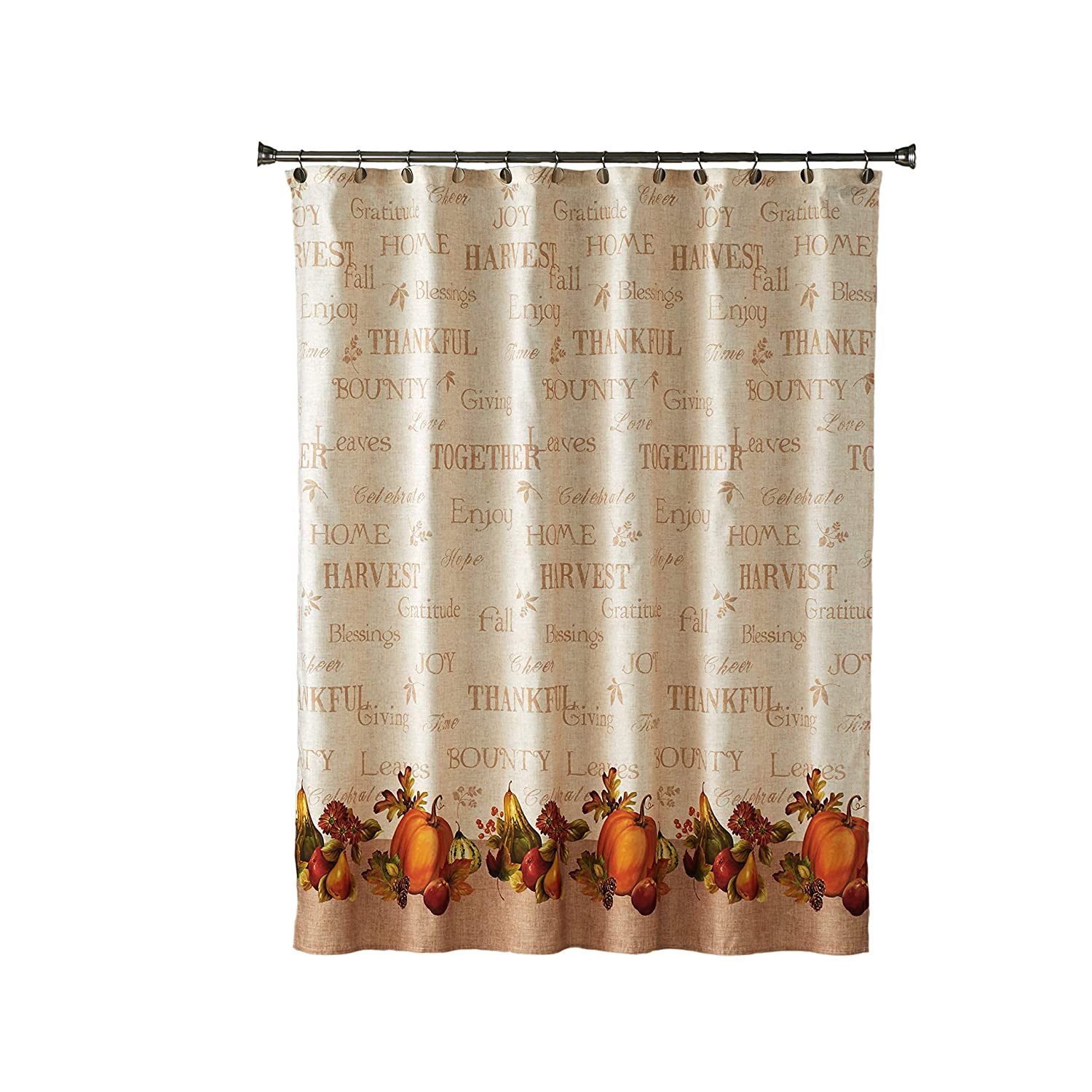 SKL Home by Saturday Knight Ltd. Harvest Bounty Shower Curtain, Natural