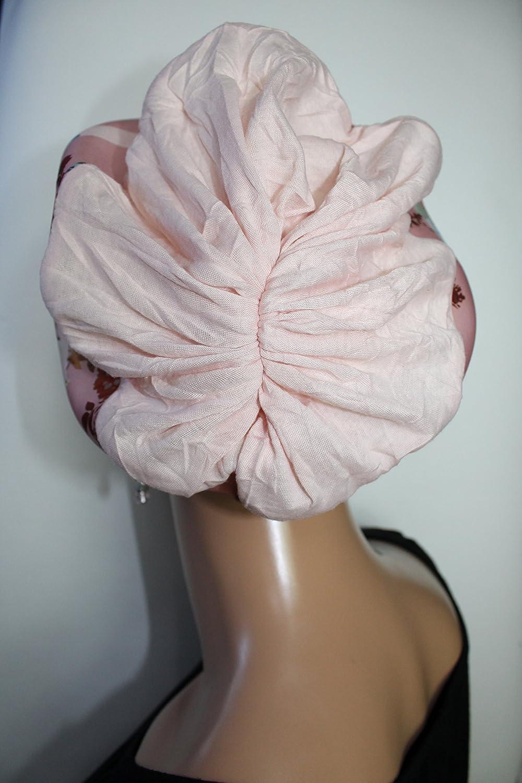 Beanie M/ütze Ballonm/ütze Crash Rosa Streifen Blumen mit Band little things in life Chemo Cap Hat Chemom/ütze M/ütze bei Krebs Kopfbedeckung Turban