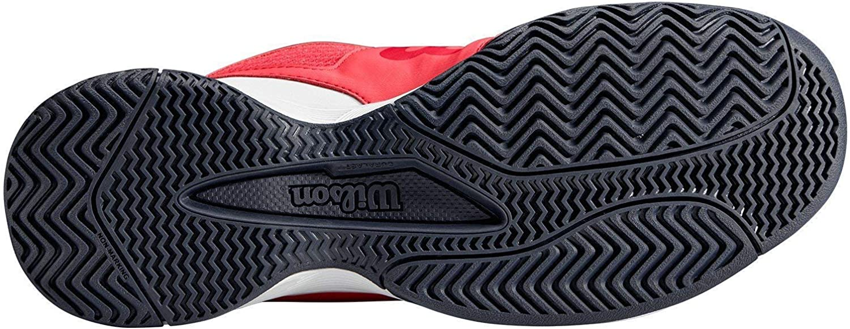 5.5 Paradise Pink//White//Barberry Wilson RUSH PRO JR QL Tennis Shoes