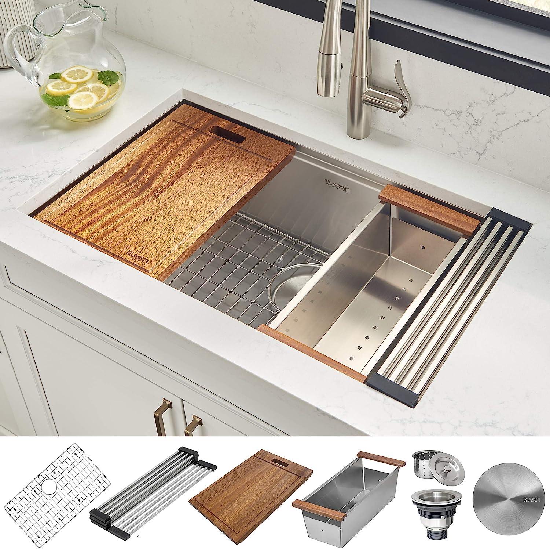 best stainless steel kitchen sinks: Ruvati 32-inch RVH8300