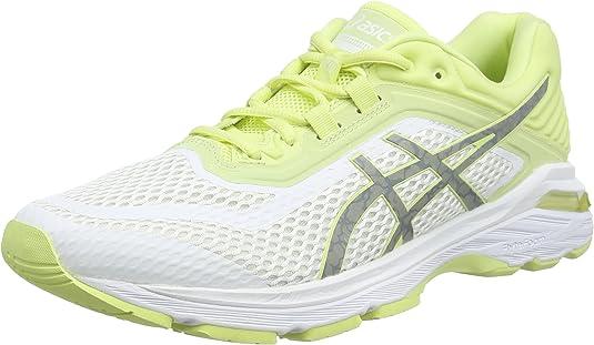 Asics Gt-2000 6 Lite-Show, Zapatillas de Entrenamiento para Mujer, Blanco (White/Silver/Limelight 0193), 37 EU: Amazon.es: Zapatos y complementos