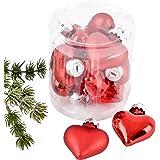 Diseño de bola de corazón y de protector de pantalla 10er de cristal de 5 x 4 x2cm de colour rojo Navidad