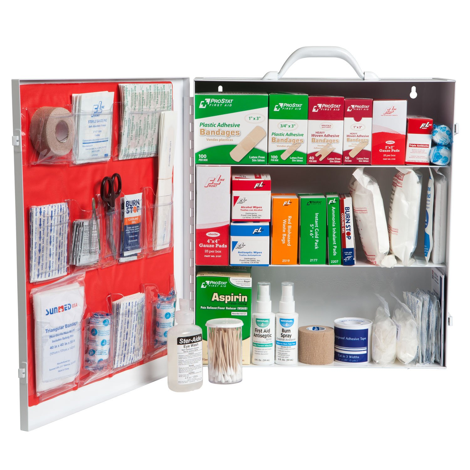 ProStat First Aid 0613 864 Piece First Aid Kit with 3 Shelf Cabinet