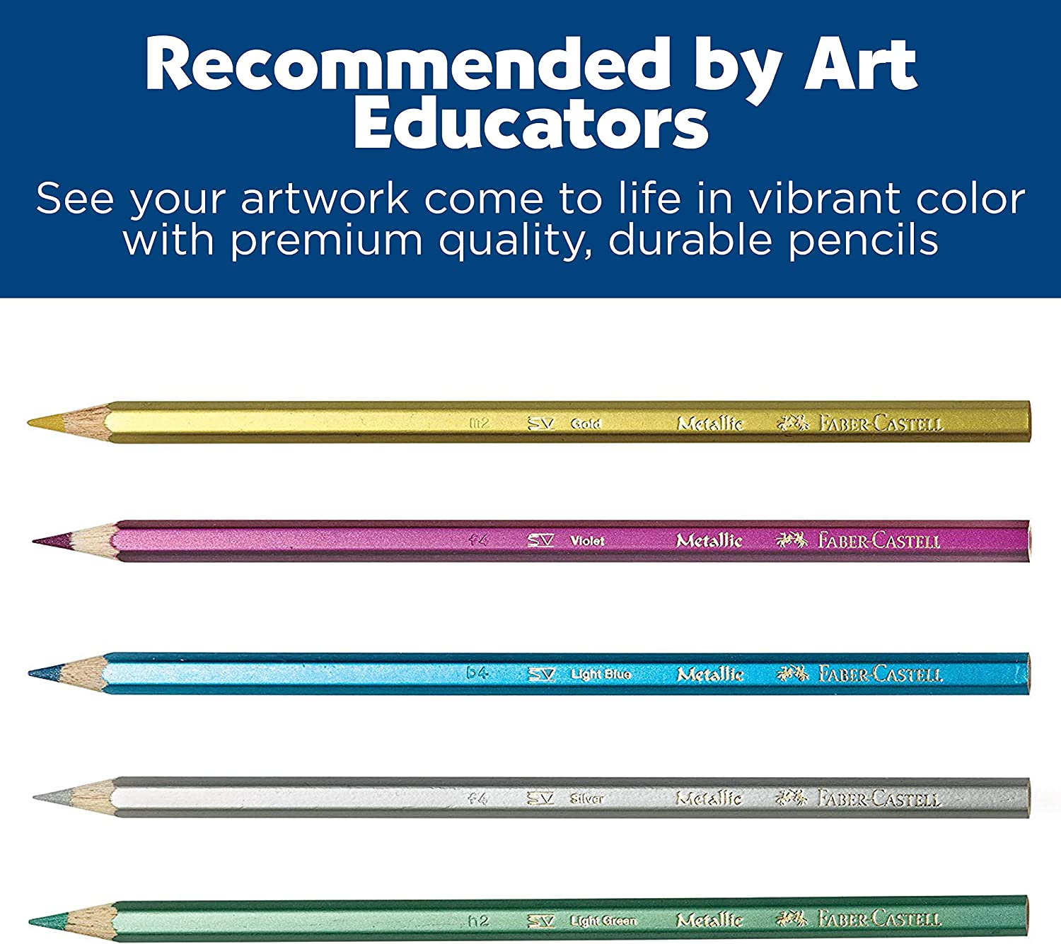 Faber-Castell - Metallic Colored EcoPencils School Pack - Premium Art Supplies For Kids (20 Sets of 12 Colors): Toys & Games