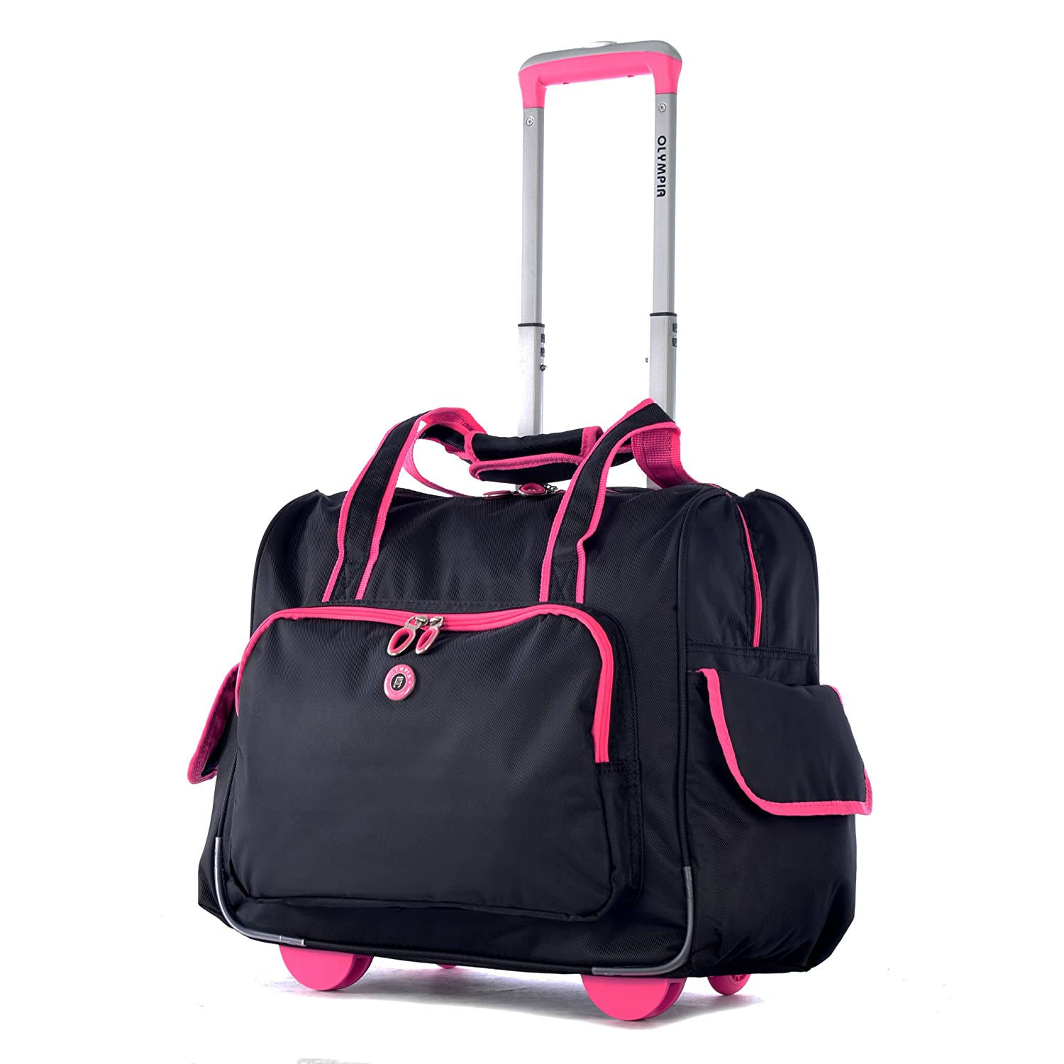 Olympia Deluxe Fashion Rolling Overnighter (BUTTERFLY) RT-3400