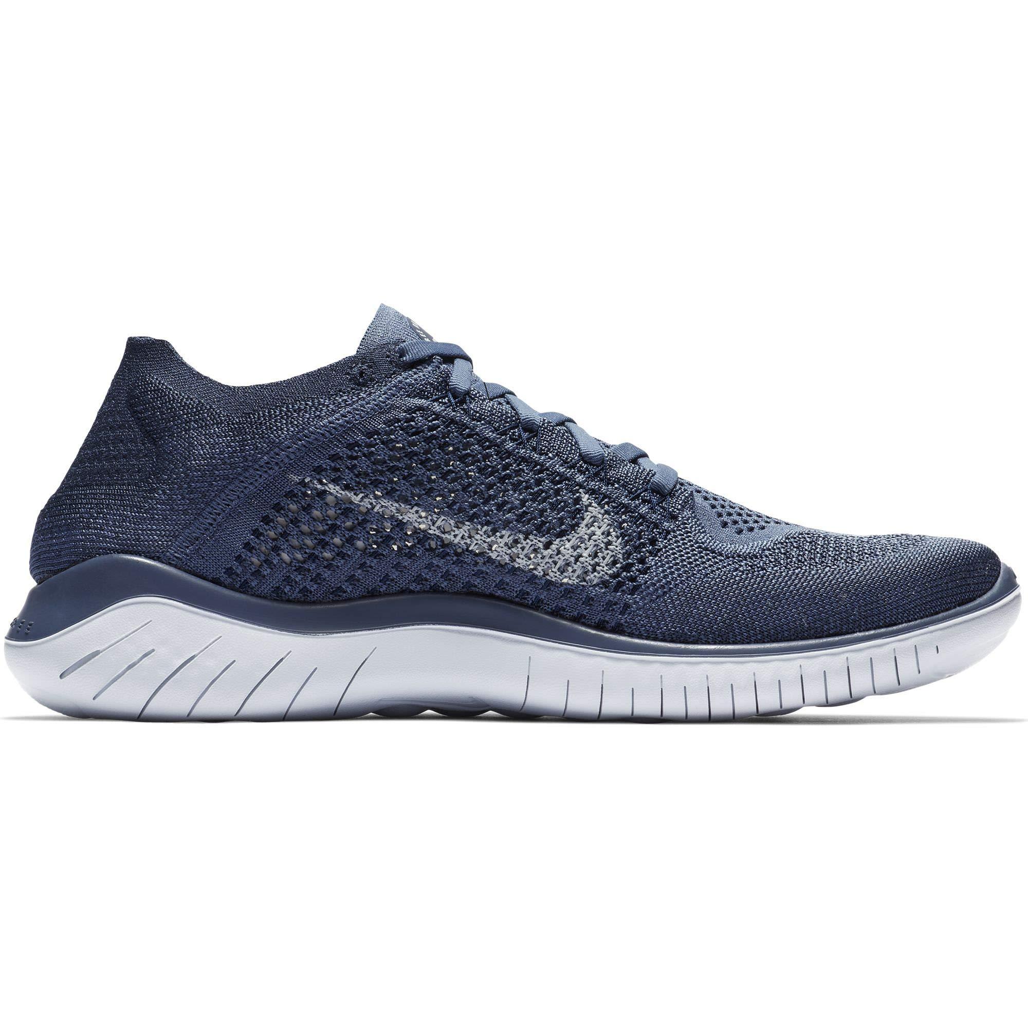 deab022d849 Galleon - NIKE Free RN Flyknit 2018 Men s Running Shoe DIFFUSED Blue Football  Grey-Thunder Blue 14.0