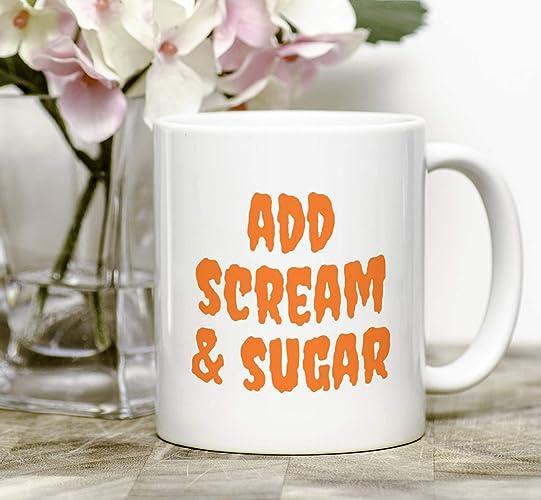 Amazoncom Halloween Add Scream Sugar Coffee Mug Cozy
