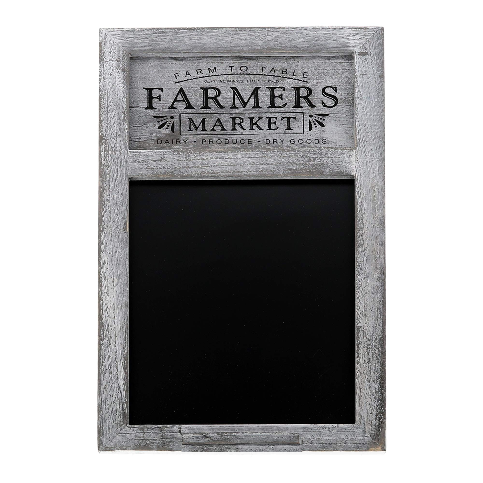 Barnyard Designs Rustic Farmers Market Chalkboard Sign - Decorative Chalkboard Display Board for Restaurant, Kitchen, Home, Weddings and More 17'' x 11''