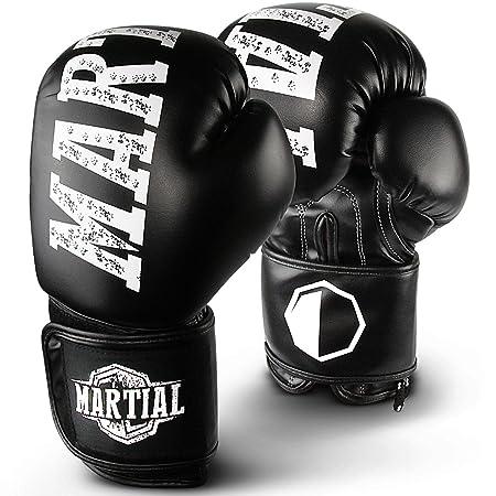 MARTIAL Boxhandschuhe aus bestem Material für lange Haltbarkeit! Kickboxhandschuhe für Kampfsport, MMA, Sparring und Boxen mi